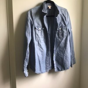 Jcrew chambray button up size small